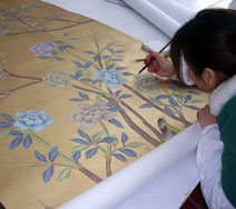 Summer Palace (artist at work)