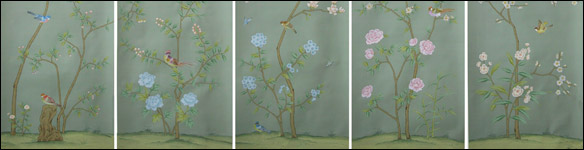 G & W Collections: Chinoiserie Papers - Du Paqier (panels)