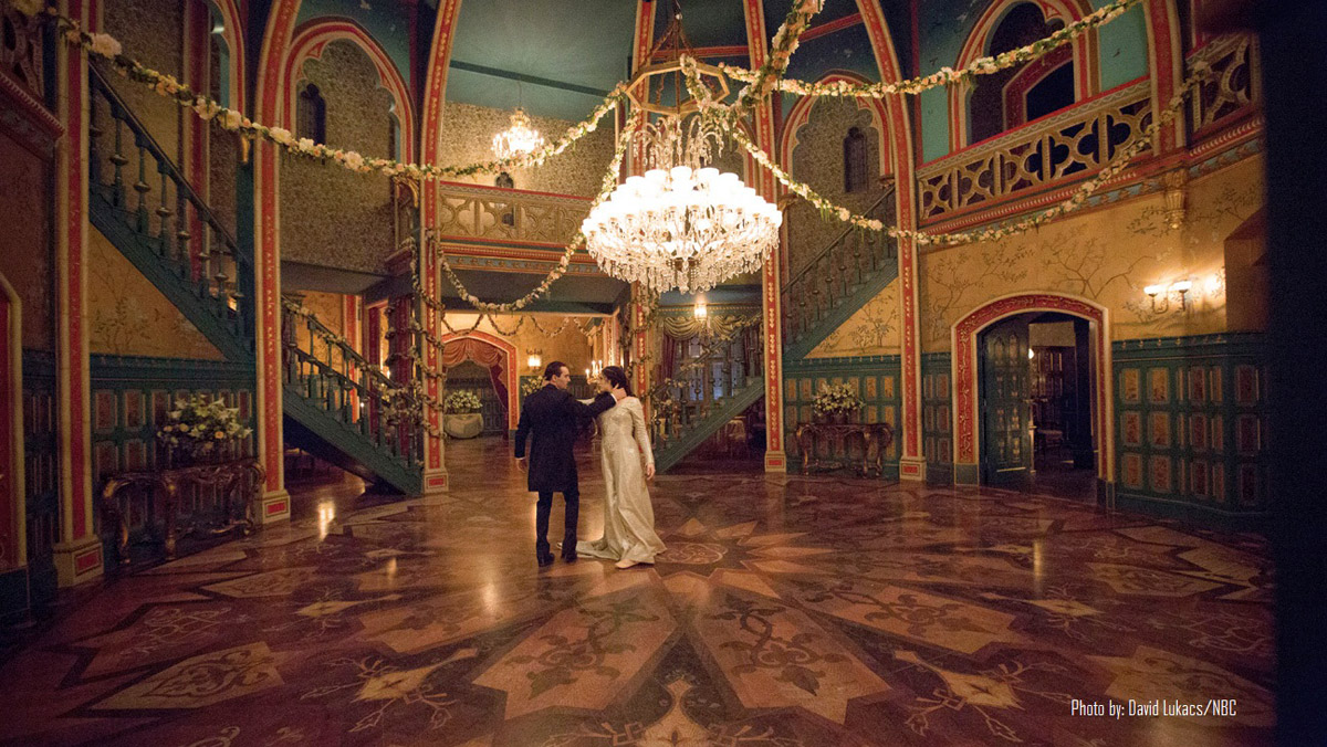 Griffin & Wong's Summer Palace and Baltazar wallpapers featured on the set of NBC's Dracula.