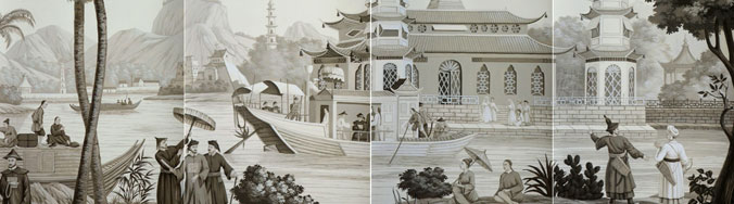 Chinese Procession (panels)