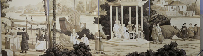 Chinese Procession (panels in-studio)